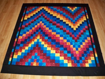 "Bargello Michael Miller Jet Black Sunset Cascade Stash 2.5"" Strips Jelly Roll"