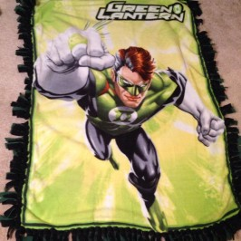 Green Lantern fleece blanket Marvel DC Etsy Superhero superheroes quilt