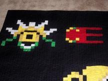 Metroid quilt video game Nintendo blanket craft Samus Zoomer