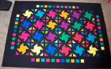 """Midnight Bunny hop Strip quilt strippers 2.5"""" strips Solids Kona Cottons"""