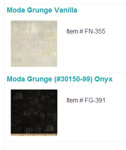Tetris quilt blanket Moda Grunge Onyx Vanilla black white background border