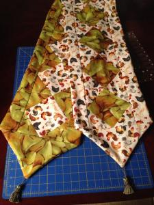 Rooster table runner Pears Chickens reversible Square in a square quilt Anita Grossman Solomon Alex Anderson