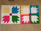 Vice Versa Block of the Month BOM Gen X Quilters GenXQuilters Quilt Blanket Bear Paw