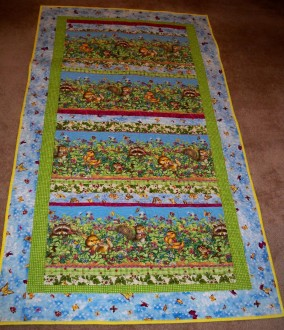 Critter fabric raccoon squirrel butterfly kid quilt bright fabric