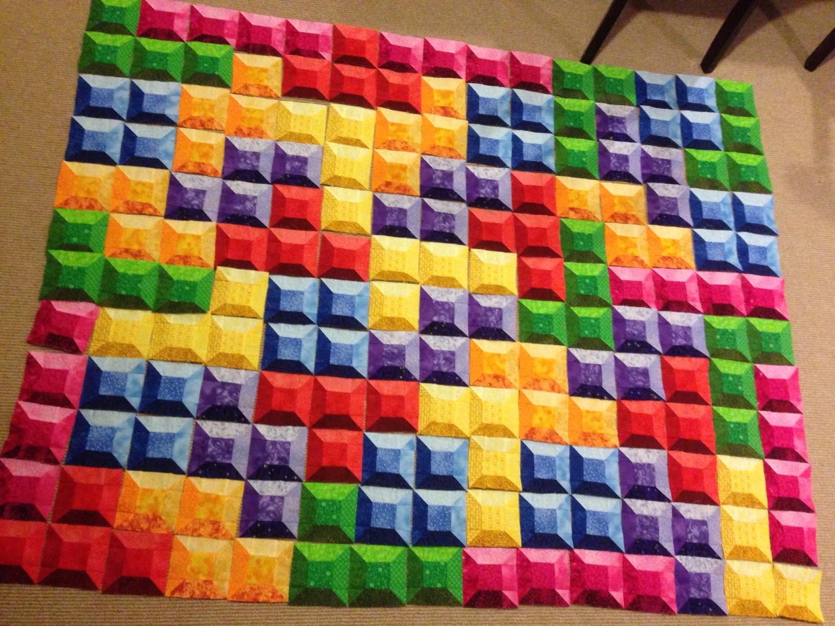 Tetris quilt – block layout | Gorram Quilts : 3d quilts - Adamdwight.com