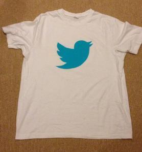 Twitter logo Halloween costume tshirt fusible web