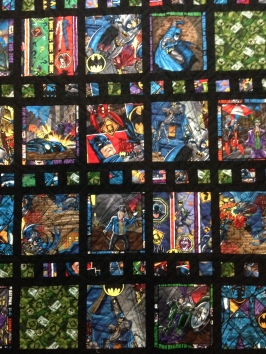 Batman fabric Marvel DC superhero superheroes film strip Michael Miller black