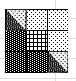 Lotta Jansdotter Sylvia Collection black and white fat quarters half square triangle HST HSTs B&W Excel