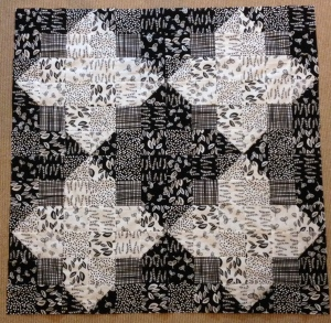 Lotta Jansdotter Sylvia Collection black and white fat quarters half square triangle HST HSTs B&W