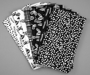 Lotta Jansdotter Sylvia Collection black and white fat quarters