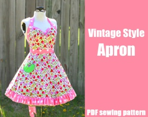 Vintage Style Apron Whatthecraft.com Christmas gifts DIY