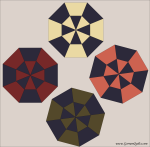 Quilt Design A Day QDAD Inkscape Umbrella Octagon