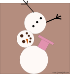 Quilt Design A Day QDAD Inkscape Snowman Deconstructed wonky wrong