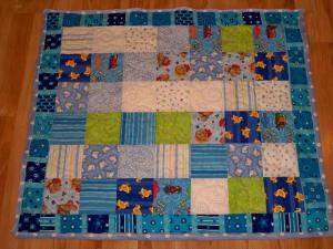 Baby quilt minky duck ducks train trains bear bears blue boy numbers soft quilt