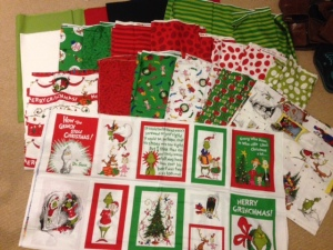 How the Grinch Stole Christmas fabric Kaufman fabric hoarder collector etsy sell