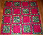 Potato Chip Quilt Lily fabric of the month flower pink