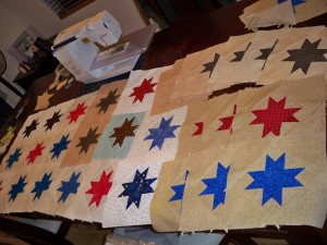 Moda Just One Star block blocks donation military Army Navy Quilts of Valor Star block Red White Blue