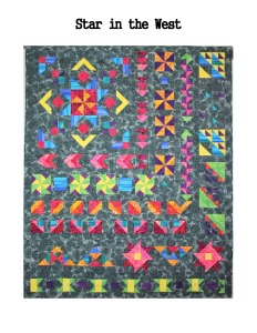 Star in the West quilt Monsoon Sunset Sunsets BOM Block of the Month Southwestern Pinwheel Geometric Flying Geese
