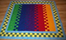 Robert Kaufman Fusion fusions fabric zip pattern bright primary rainbow colors