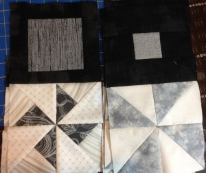 Star in the West quilt Monsoon Sunset Sunsets BOM Block of the Month Southwestern Pinwheel Geometric Flying Geese Black White Grey