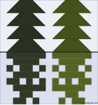 Quilt Design A Day QDAD Inkscape Trees reflection