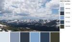Quilt Design A Day QDAD Inkscape Mountains Snow Colorado Rockies Blue