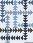 Quilt Design A Day QDAD Inkscape Flying Geese Blue