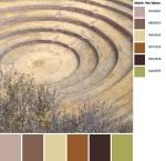 Quilt Design A Day QDAD Inkscape Concentric Circles desert beige