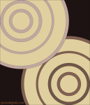 Quilt Design A Day QDAD Inkscape Concentric circles beige
