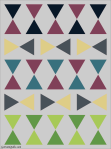 Quilt Design A Day QDAD Inkscape equilateral triangles pink blue yellow green