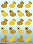 Quilt Design A Day QDAD Inkscape rubber ducky duck duckie duckies deconstructed
