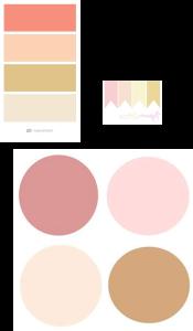 Pastel wedding color palette pink brown tan wedding quilt guest book quilt