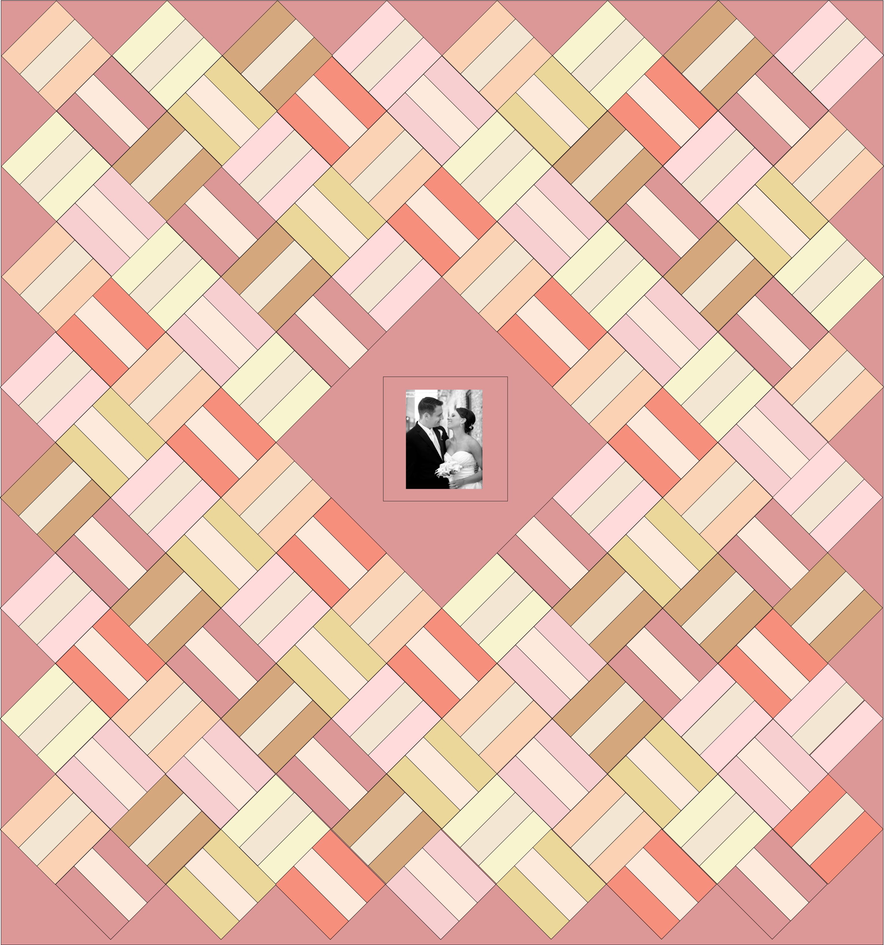 Book color palette - Pastel Wedding Color Palette Pink Brown Tan Wedding Quilt Guest Book Quilt Layout Inkscape Rail Fence