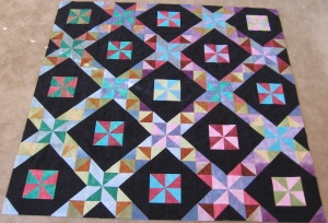 Pinwheel batik two blocks star gradient gradiant fabric Ta-Da Tada triangles thangles