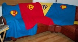 Super Hero Superhero Superheroes Super Man Superman Man of Steel Solids Applique letter fleece