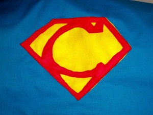 Super Hero Superhero Superheroes Super Man Superman Man of Steel Solids Applique letter fleece felt