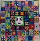 Quilt block solid solids Geometry Panda Teenager Mutant Ninja Turtle TMNT Beatles student activity rainbow gradient fabric