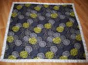 Fleece baby blanket quilt ribbon binding quick fast baby gift black grey gray yellow chic gender neutral