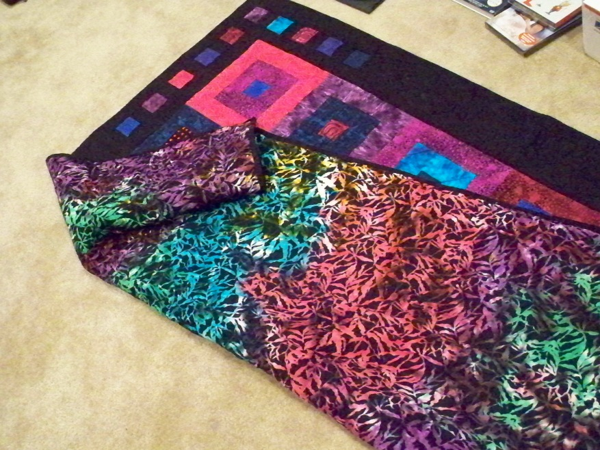 """Strip strippers quilt 2.5"""" strips 2 and a half inch fabric strips jelly roll bright blue pink purple batik square squares rectangle rectangles easy quick pattern"""