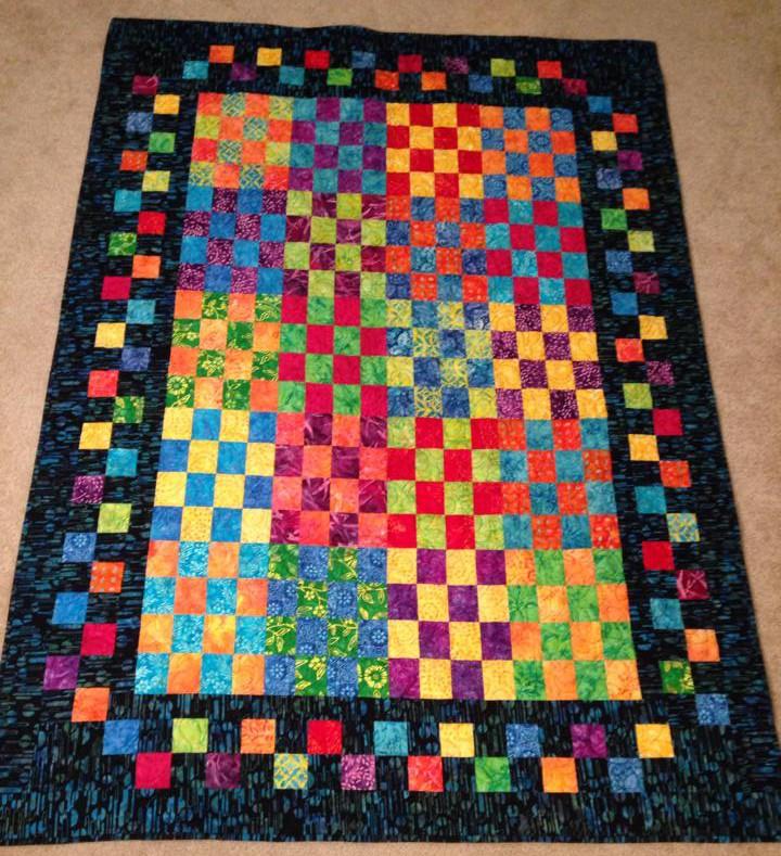 Batik Strips and Companion Cube | Gorram Quilts : strip quilts - Adamdwight.com