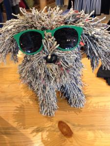 Shaggy dog art sunglasses sculpture Bainbridge Island