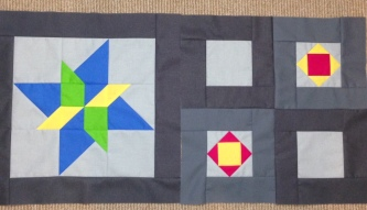 Star Gazing BOM Block of the Month Solid Solids Swan Amity Studios Bella Girls American Brand Solids Seattle WA Clothworks Kona Cottons Hoffman Solids Gemini Rigel Seahawks