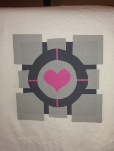 Chell Portal Aperture science laboratories long fall longfall boots portal gun PAX Prime 2015 Companion Cube Fusible interfacing