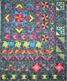 Star in the West Monsoon sunset quilt along block of the month BOM 2016 geometric pinwheels stars