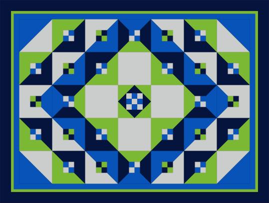 Desert Bloom Quilting Talavera Tile quilt pattern half square triangles HST 4-patch four patch Prisma Dyes Artisan Batik Batiks quilt fabric solids