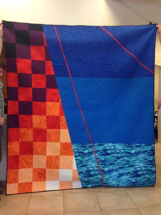 Quilt Design A Day QDAD Inkscape Golden Gate Bridge
