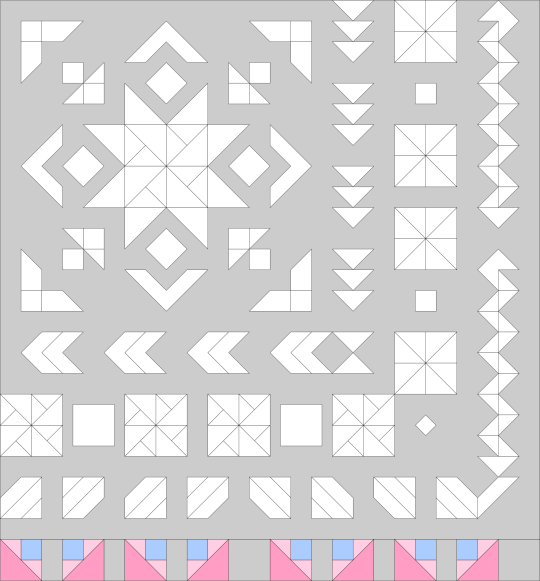 Star in the West Monsoon sunset quilt along QAL block of the month BOM 2016 geometric pinwheels stars Swan Amity American Made Brand solids AMB Inkscape
